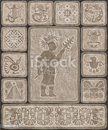 istock Carved Mayan Stone Blocks 165801812