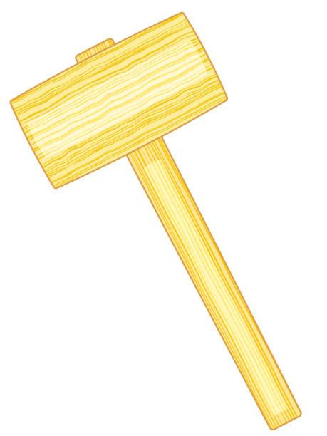 카 버의 망치 아이콘 - 나무망치 stock illustrations