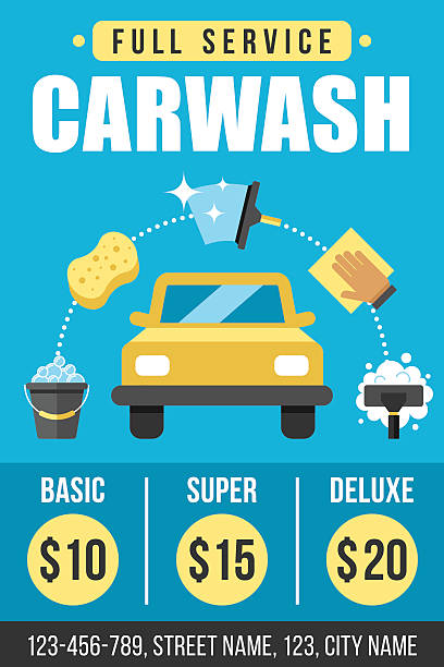 Royalty free car wash clip art vector images illustrations istock carwash poster vector art illustration maxwellsz