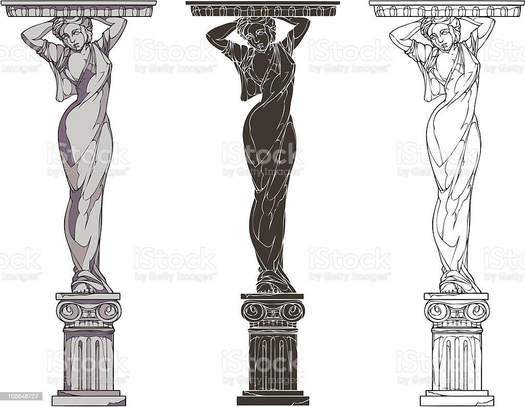caryatid royalty-free stock vector art