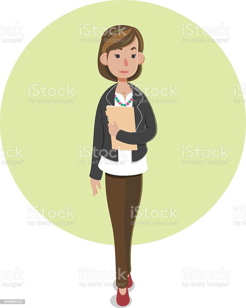 Casaual Businesswoman ベクターアートイラスト
