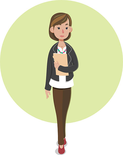 casaual businesswoman - business casual fashion stock illustrations