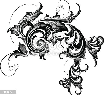cascading scroll stock vector art more images of 2000 2009 165557371 istock. Black Bedroom Furniture Sets. Home Design Ideas
