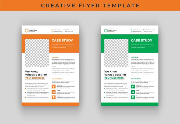 Case study flyer template design Case study flyer template design flyers templates stock illustrations