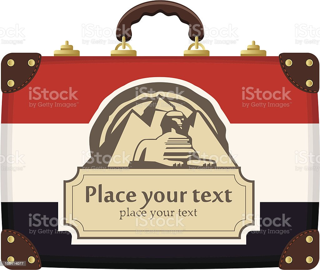 case with Egyptian flag royalty-free stock vector art