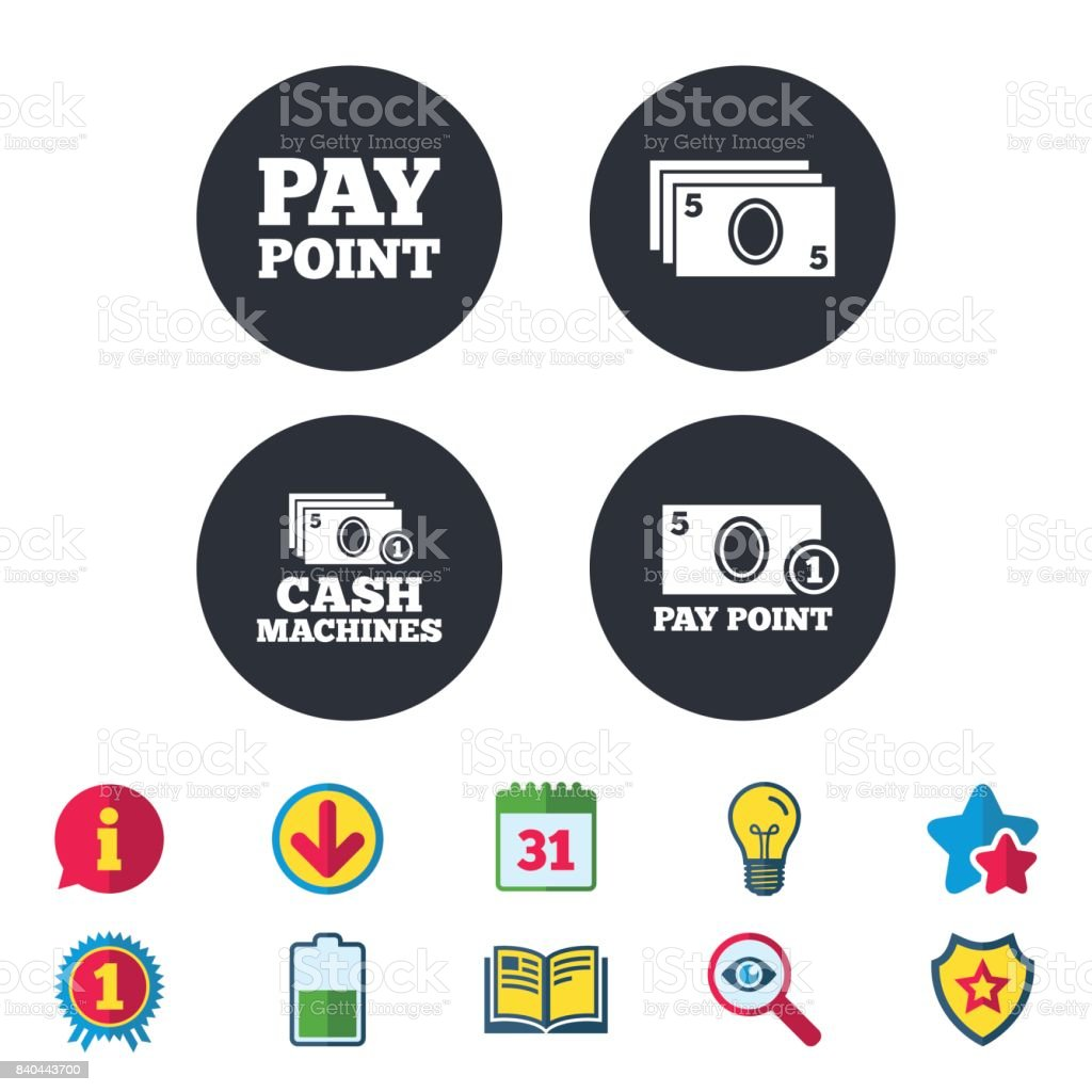 Cash And Coin Icons Money Machines Or Atm Stock Vector Art & More Images of  ATM