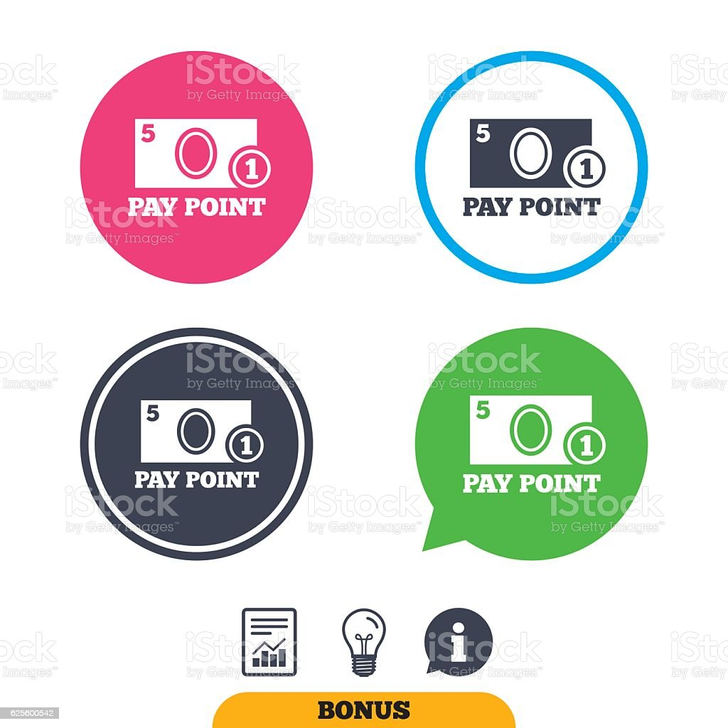 Cash And Coin Sign Icon Pay Point Symbol Stock Vector Art & More