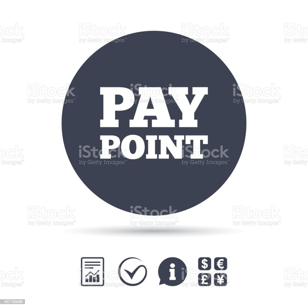 Cash And Coin Sign Icon Pay Point Symbol Stock Illustration