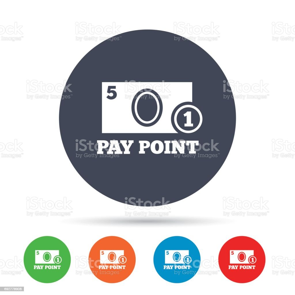 Cash And Coin Sign Icon Pay Point Symbol Stock Vector Art