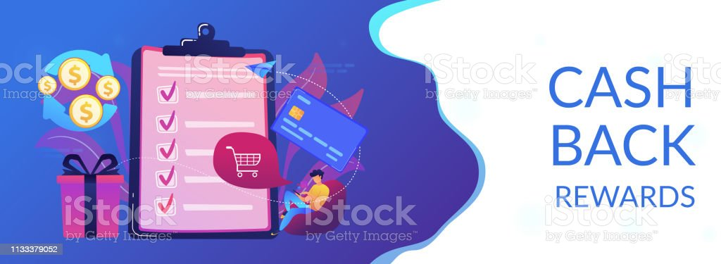 Cardholder with smartphone shopping online and getting cach rewards...