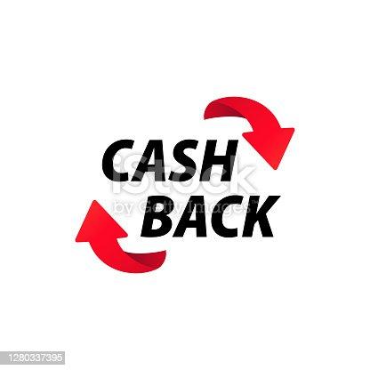 istock Cash back icon. Money return. Vector on isolated white background. EPS 10 1280337395