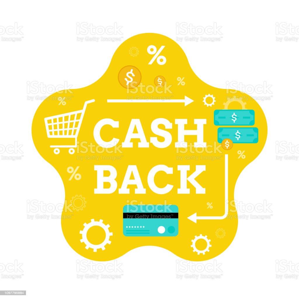 Cash back. Modern flat vector concept for web design. Money. Banking....