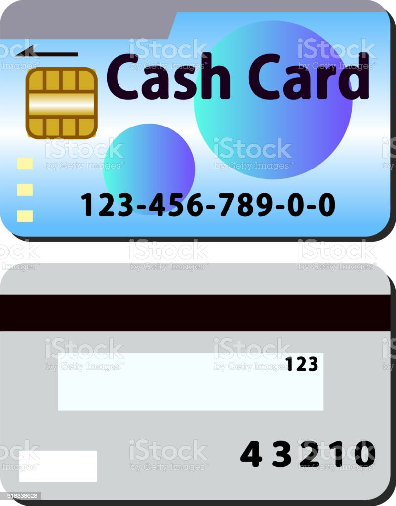 Cash Card Set Round Blue Stock Vector Art & More Images of Bank ...
