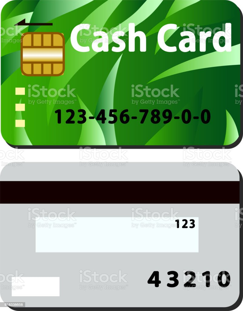 Cash Card Set Wind Green Stock Vector Art & More Images of Bank ...