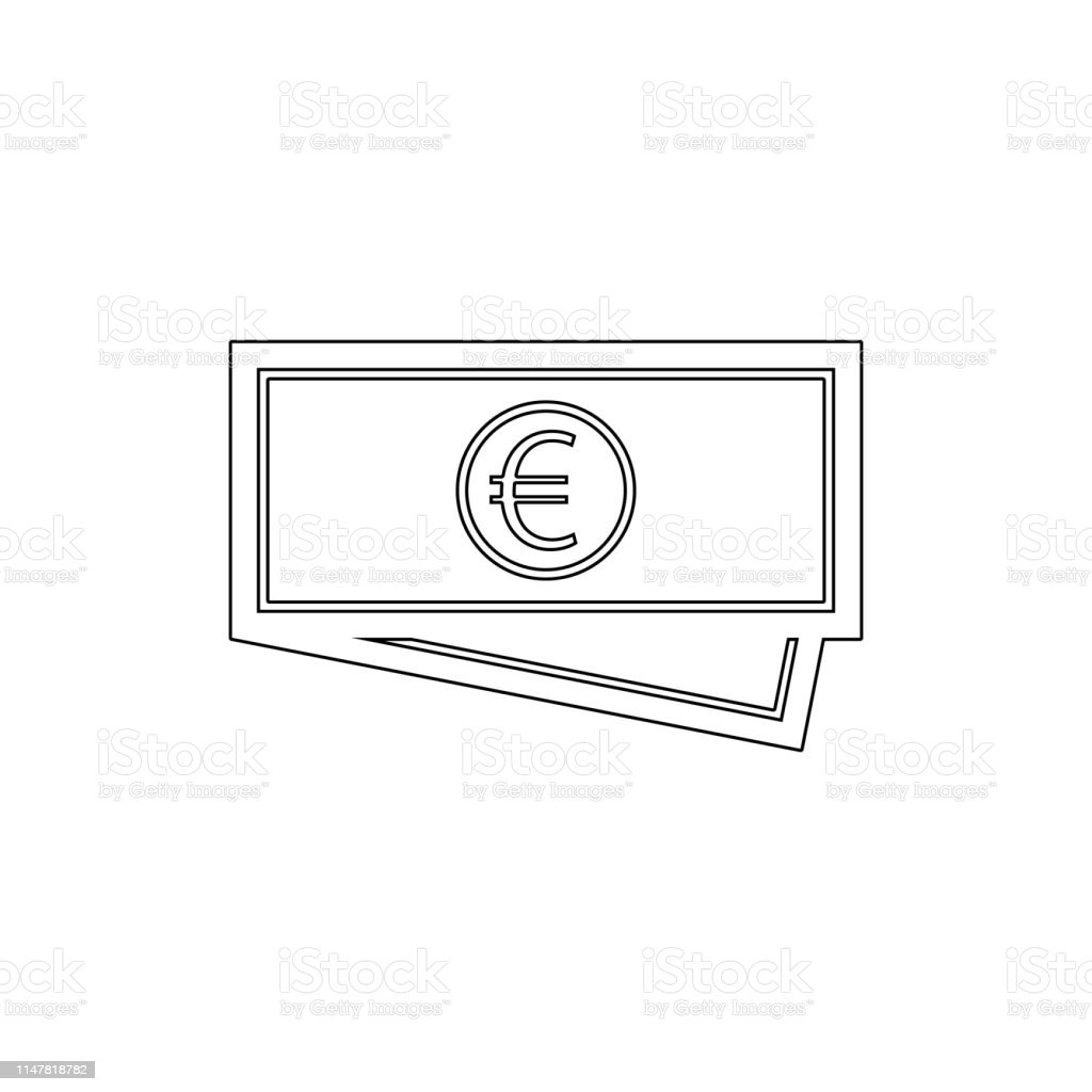 Cash Currency Euro Money Price Shopping Outline Icon Signs