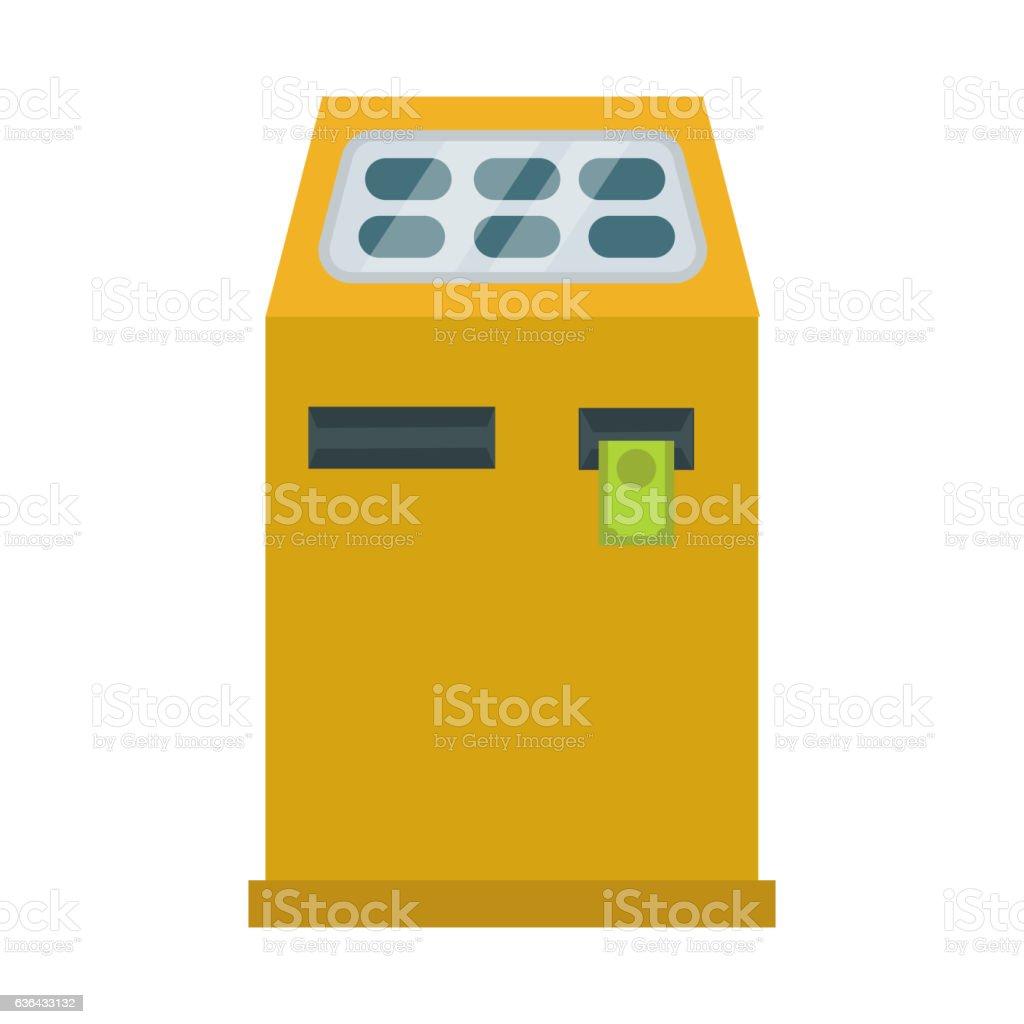 ATM cash dispenser vector illustration isolated on white background....