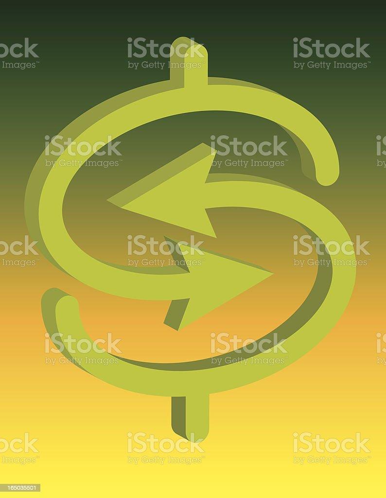 cash exchange royalty-free stock vector art