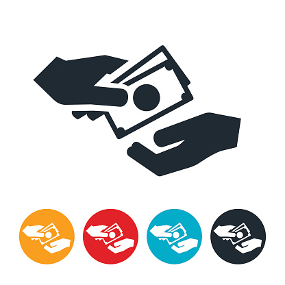 Cash Exchanging Hands Icon Stock Illustration - Download ...