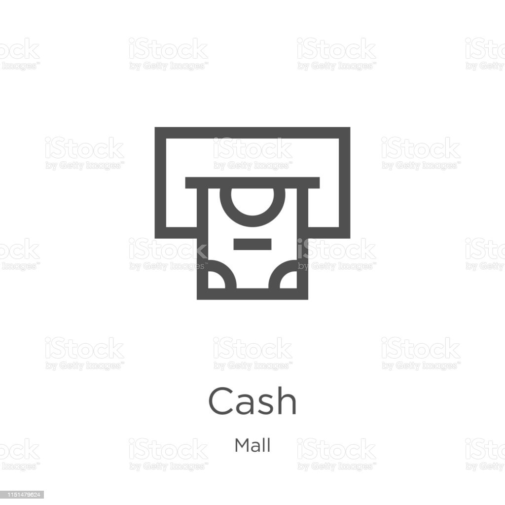 cash icon. Element of mall collection for mobile concept and web apps...