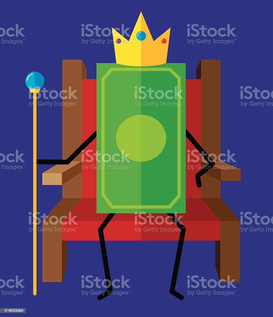 Cash is King vector art illustration