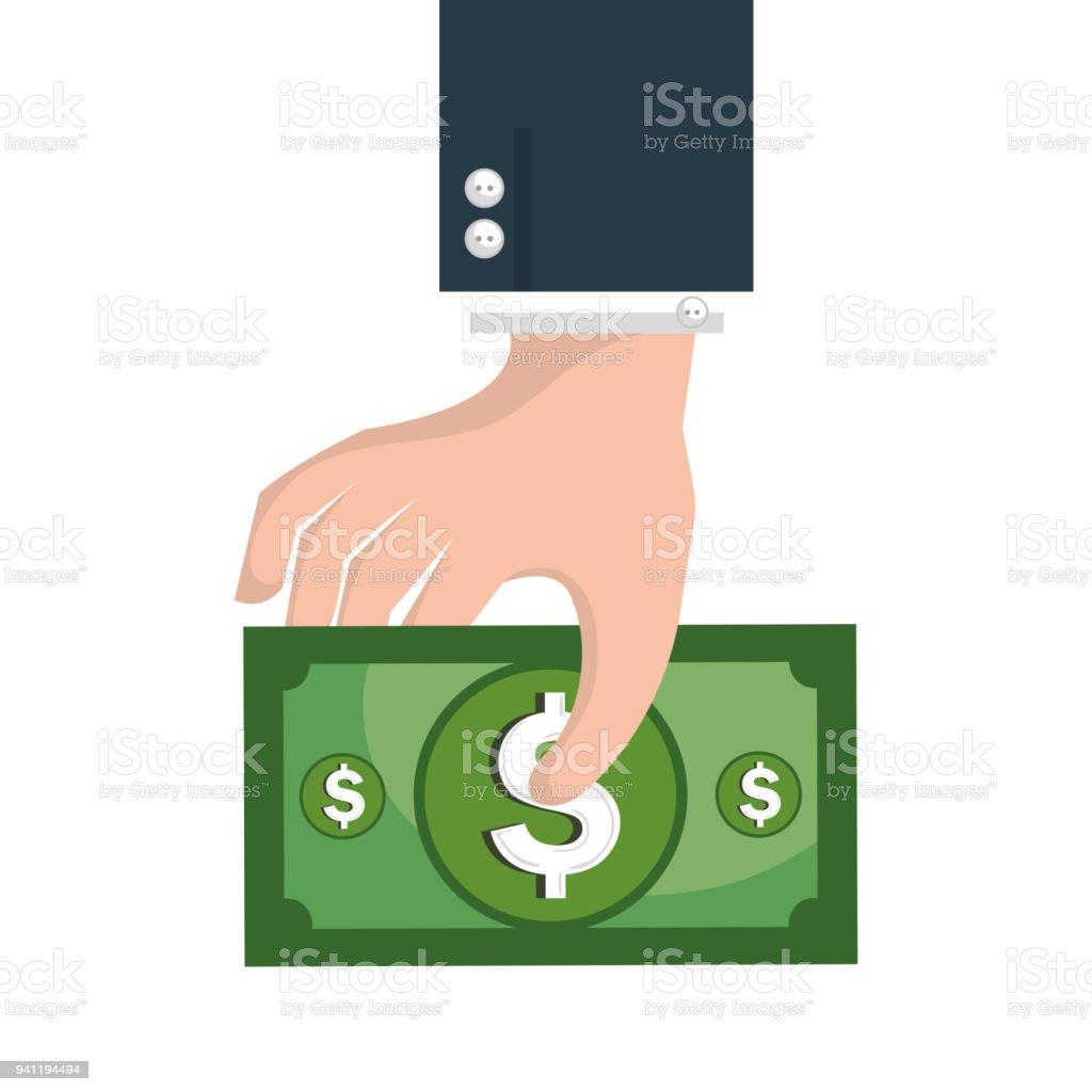icono aislado de dinero en efectivo - ilustración de arte vectorial