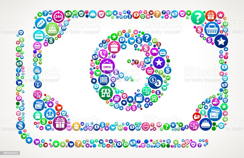 Cash Money Shopping and E-commerce Background Pattern. The main...