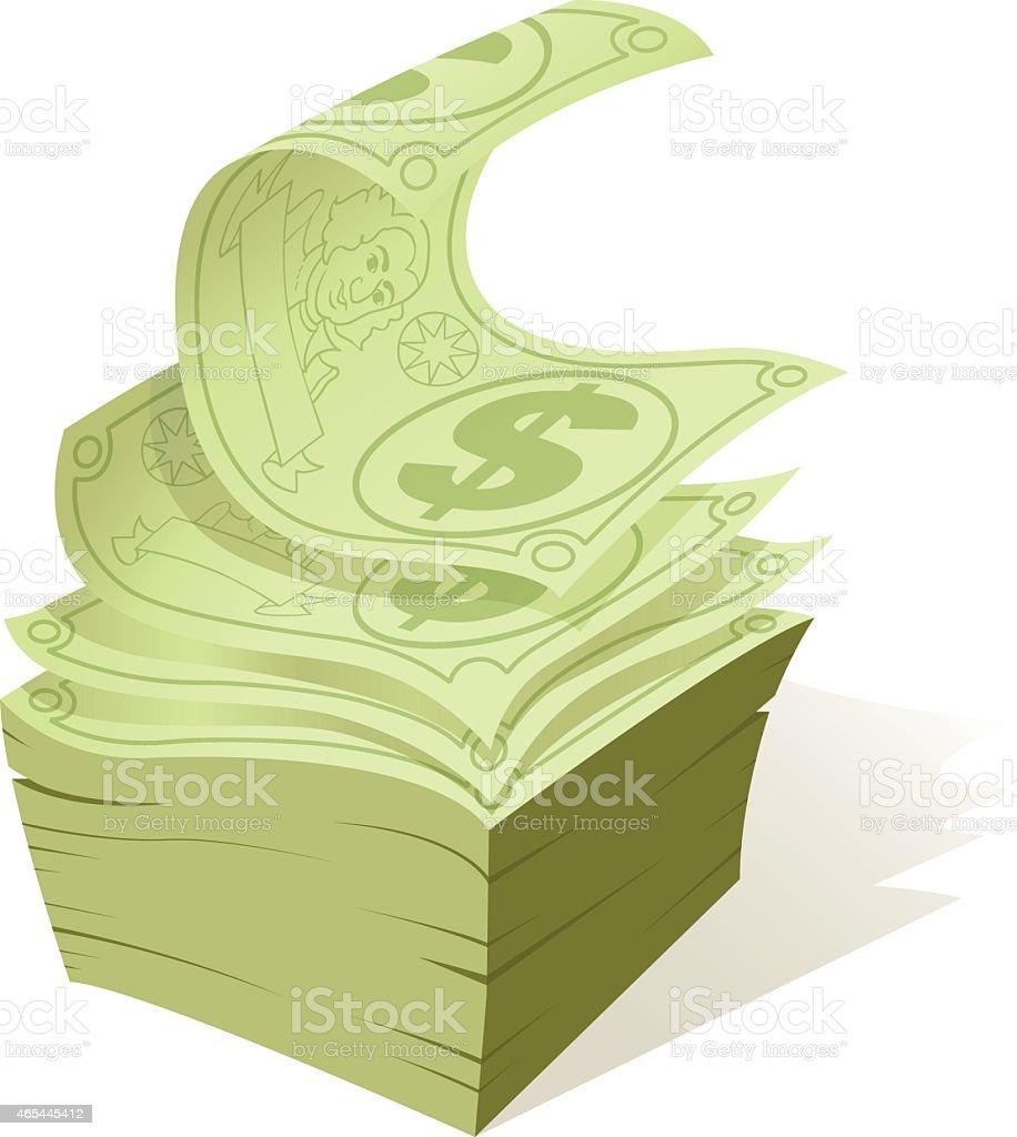 Cash Money Stack vector art illustration