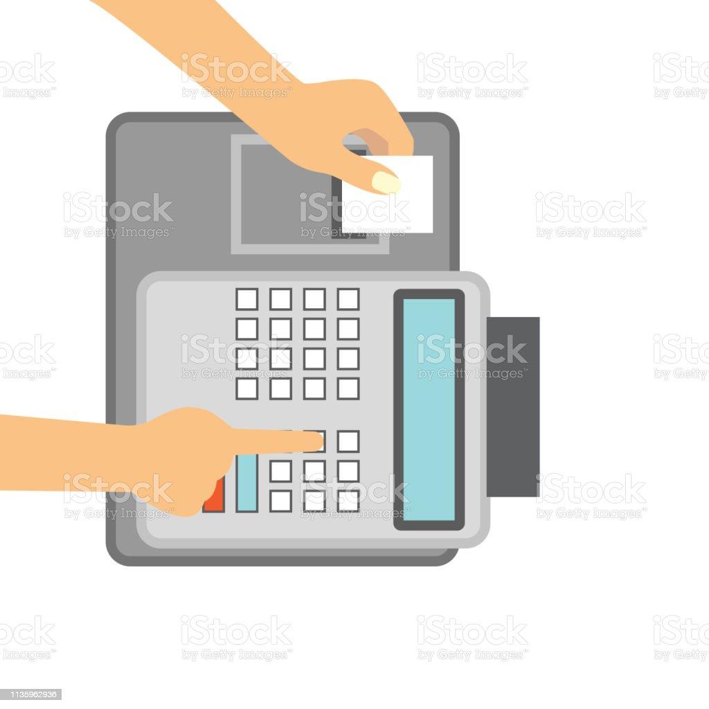 Cash register for business concept - Illustration