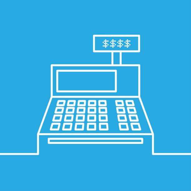 cash register icon - kasa fiskalna stock illustrations