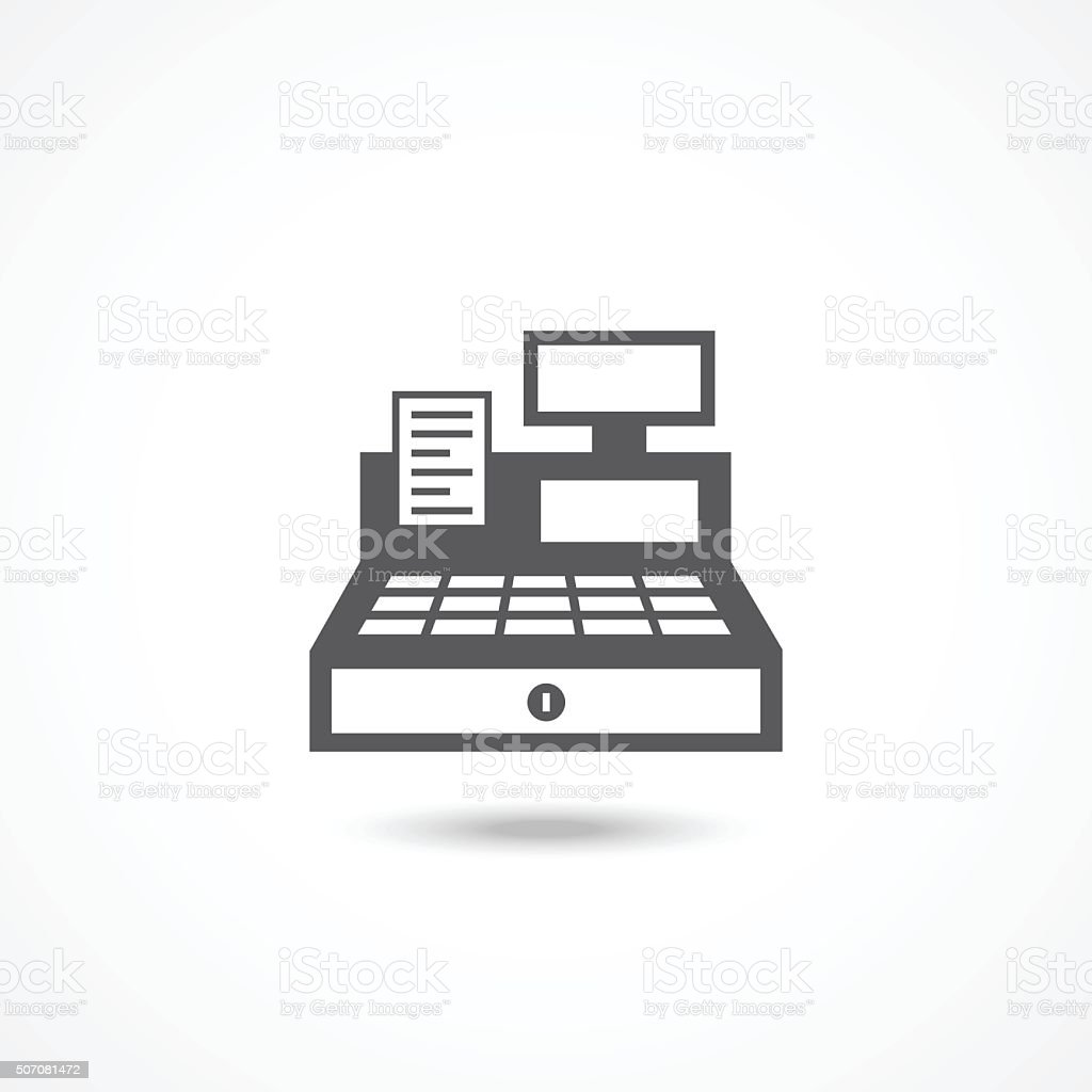 Cash Register Icon vector art illustration