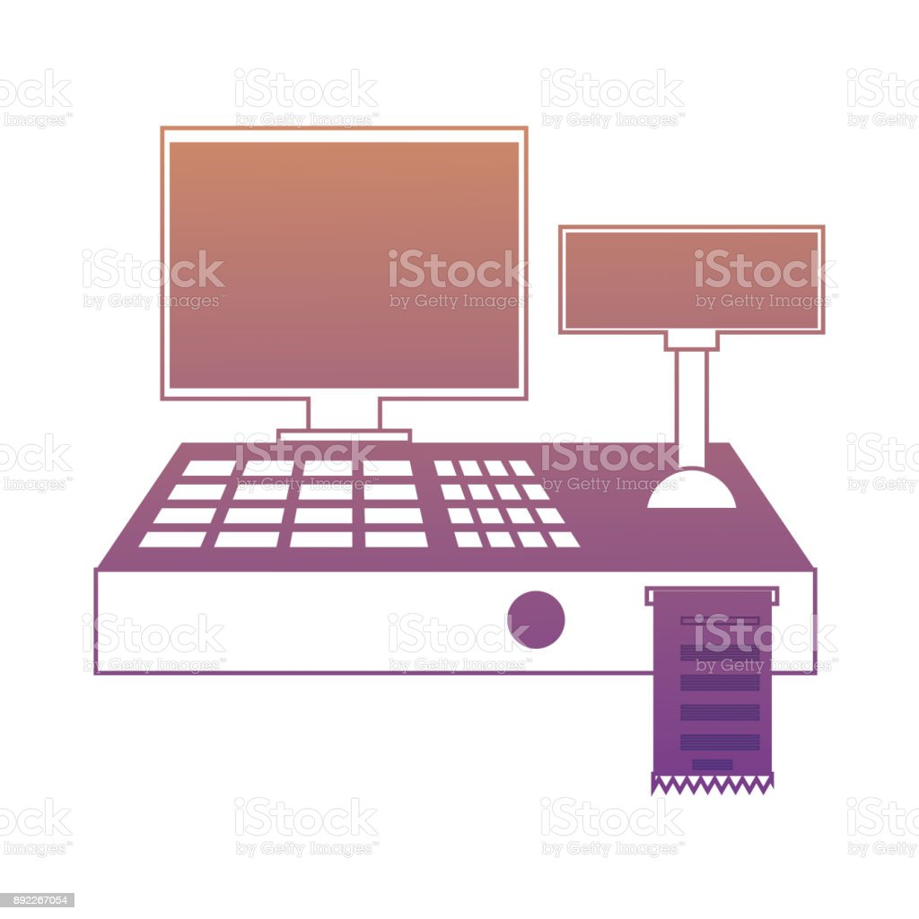 cash register icon vector art illustration