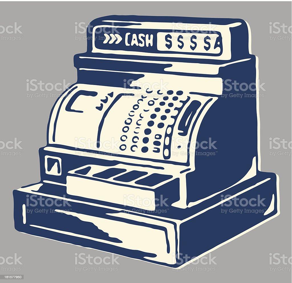 Cash Register vector art illustration