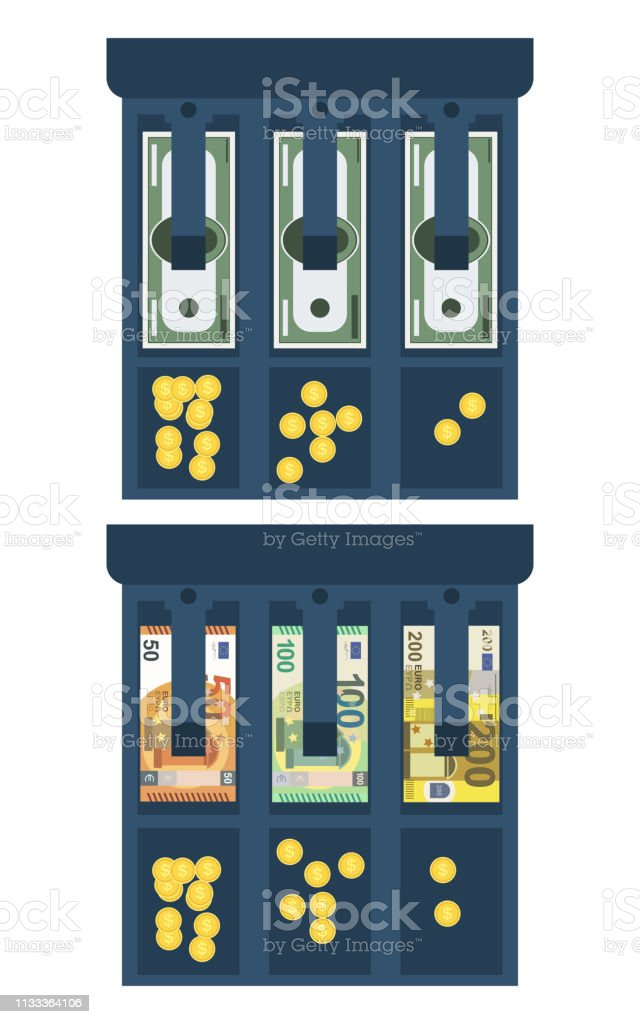 Beautiful isolated vector design illustration of a cash register with...