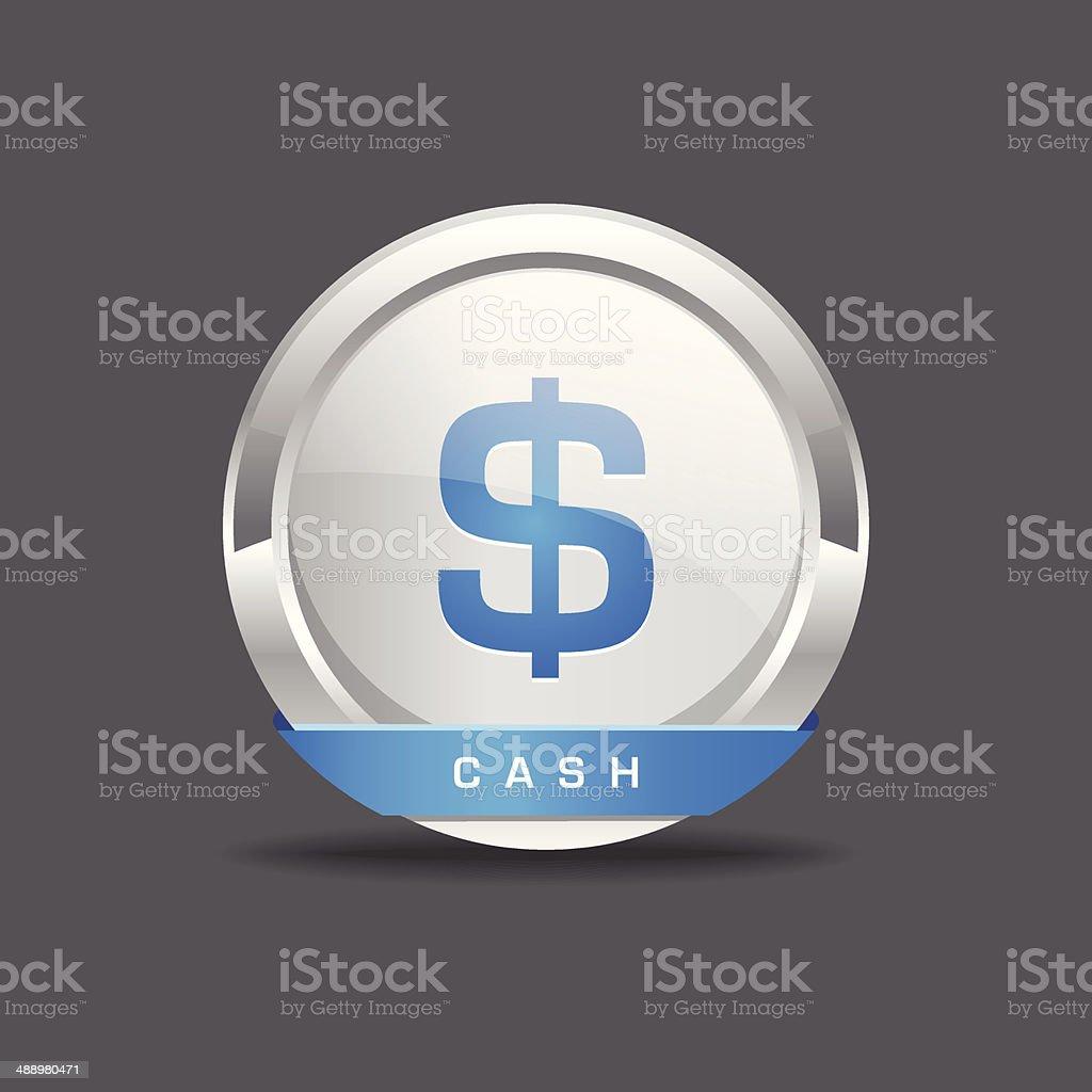 Cash Rounded Vector Icon Button Web Button