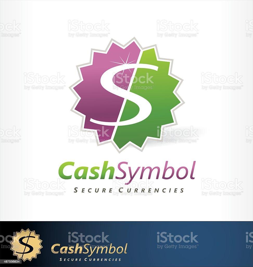 Cash symbol logo vector