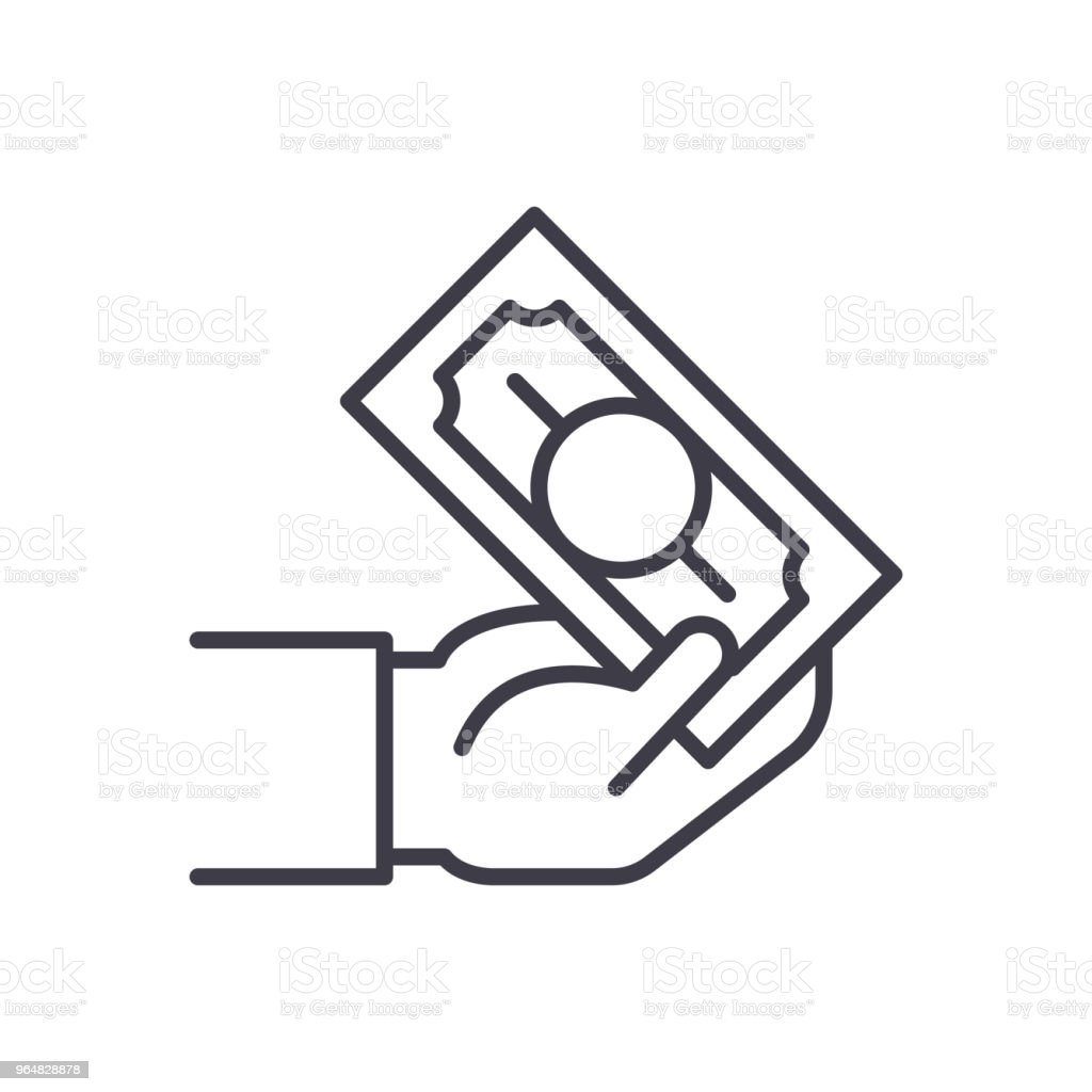 Cash transactions black icon concept. Cash transactions flat  vector symbol, sign, illustration. royalty-free cash transactions black icon concept cash transactions flat vector symbol sign illustration stock vector art & more images of bank