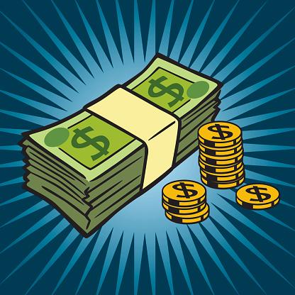 Cash Stockvectorkunst en meer beelden van Aansporing