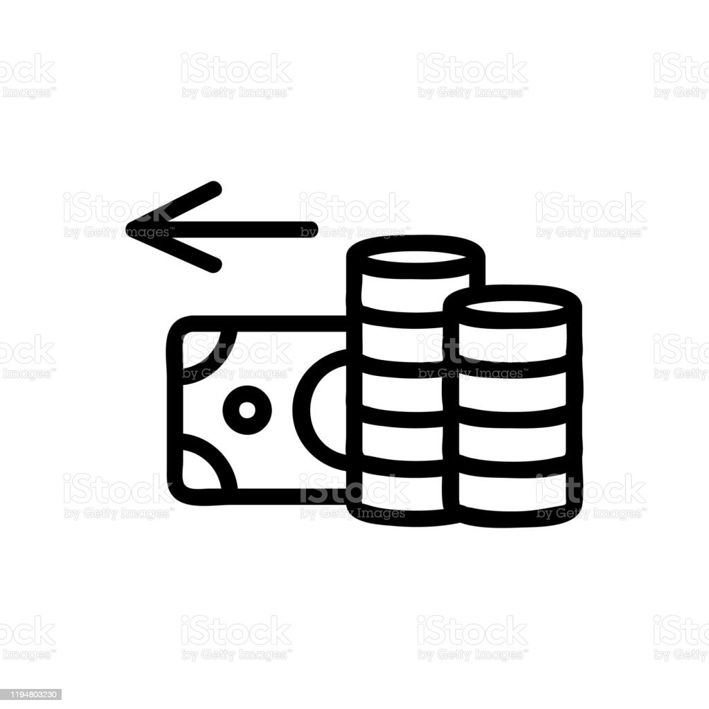 cashback icon vector isolated contour symbol illustration stock illustration download image now istock https www istockphoto com vector cashback icon vector isolated contour symbol illustration gm1194803230 340352614