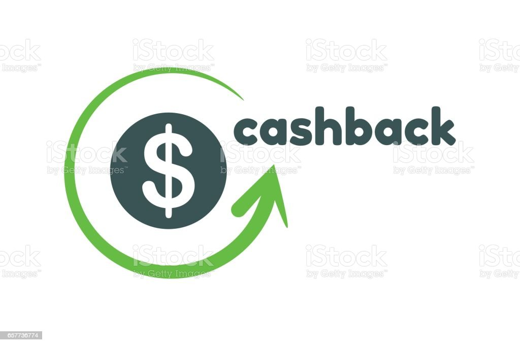 Cashback logo template vector art illustration