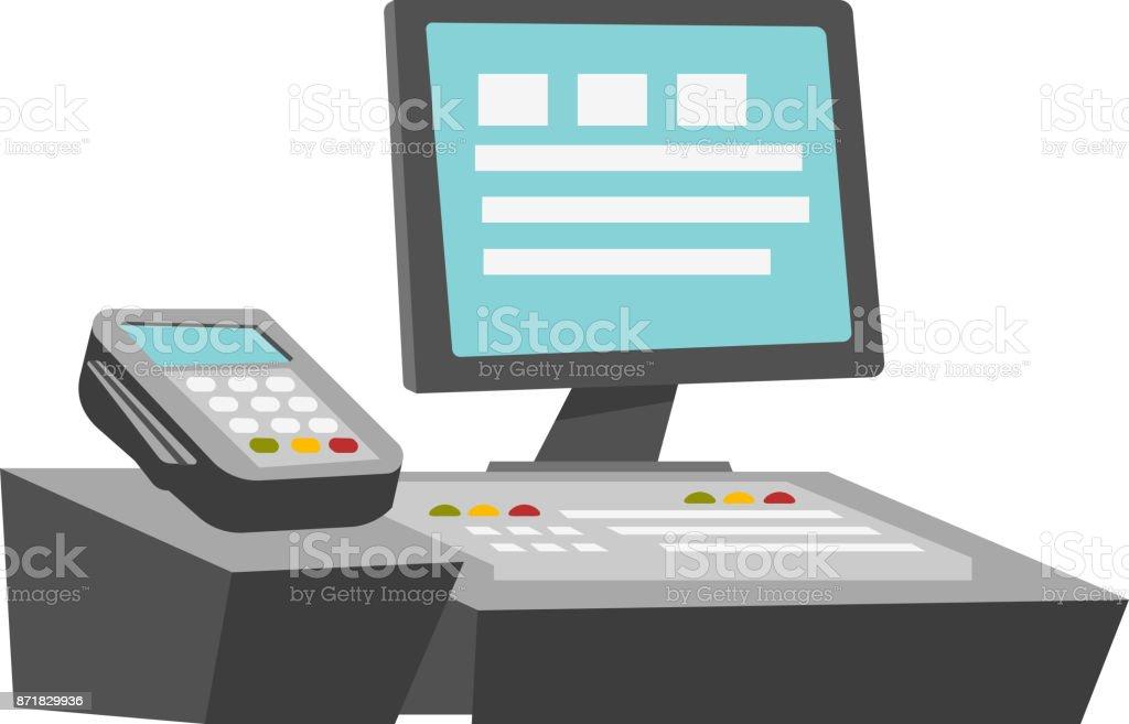 Cashbox vector cartoon illustration vector art illustration