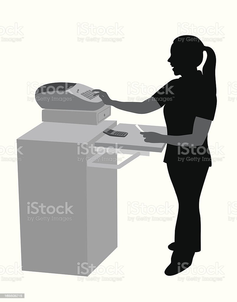 Cashier Vector Silhouette royalty-free cashier vector silhouette stock vector art & more images of business