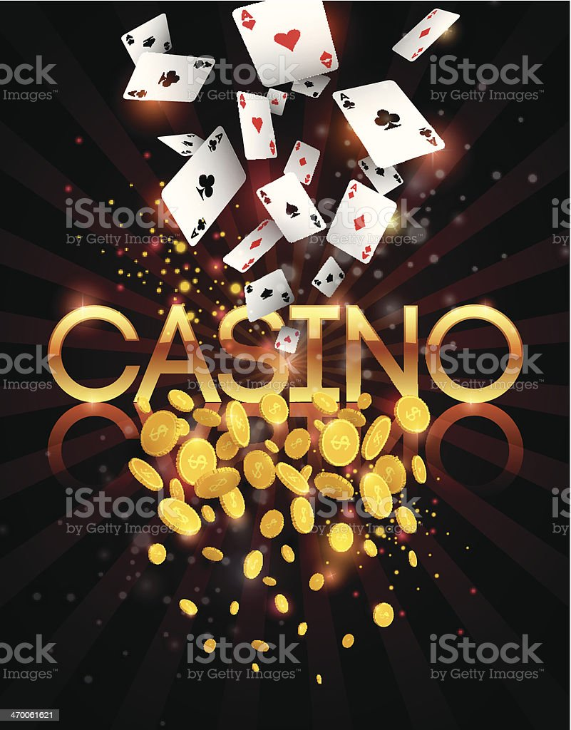 Casino abstract background vector art illustration