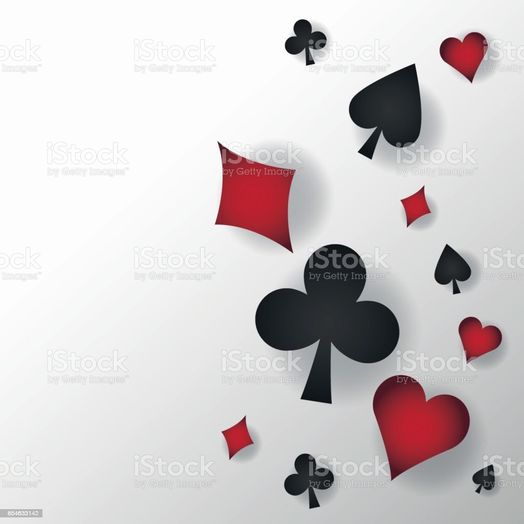 Casino And Cards Symbols Of Poker Design Stock Vector Art More