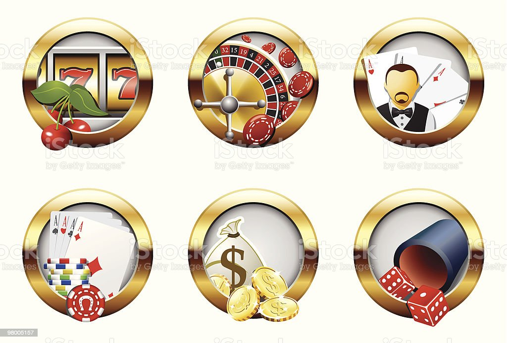 Casino and gambling buttons royalty-free casino and gambling buttons stock vector art & more images of bag
