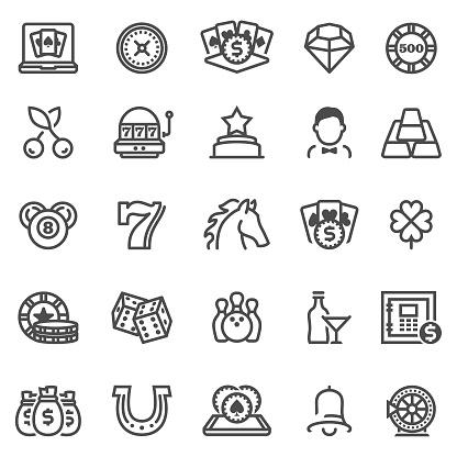 Casino and Gambling Games Icons