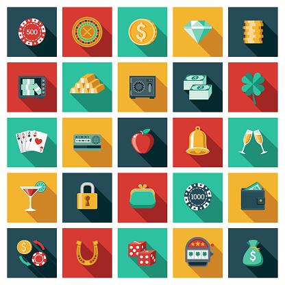 Casino and Gambling Icon Set
