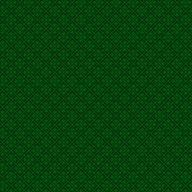 Casino und versuchen Sie Ihr Glück beim poker Hintergrund mit dunklen grünen Farben. Nahtlose Vektor – Vektorgrafik