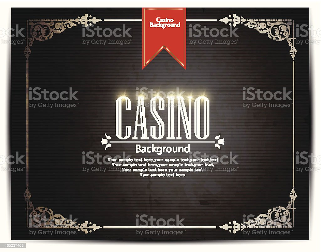 Casino background - Illustration vector art illustration