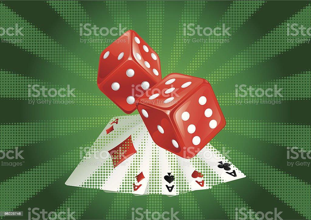 casino background vector art illustration