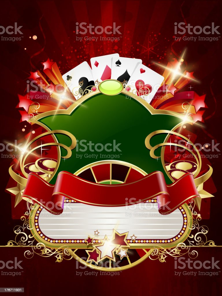 Casino Background with Marquee royalty-free stock vector art